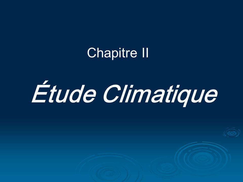 Chapitre II Étude Climatique
