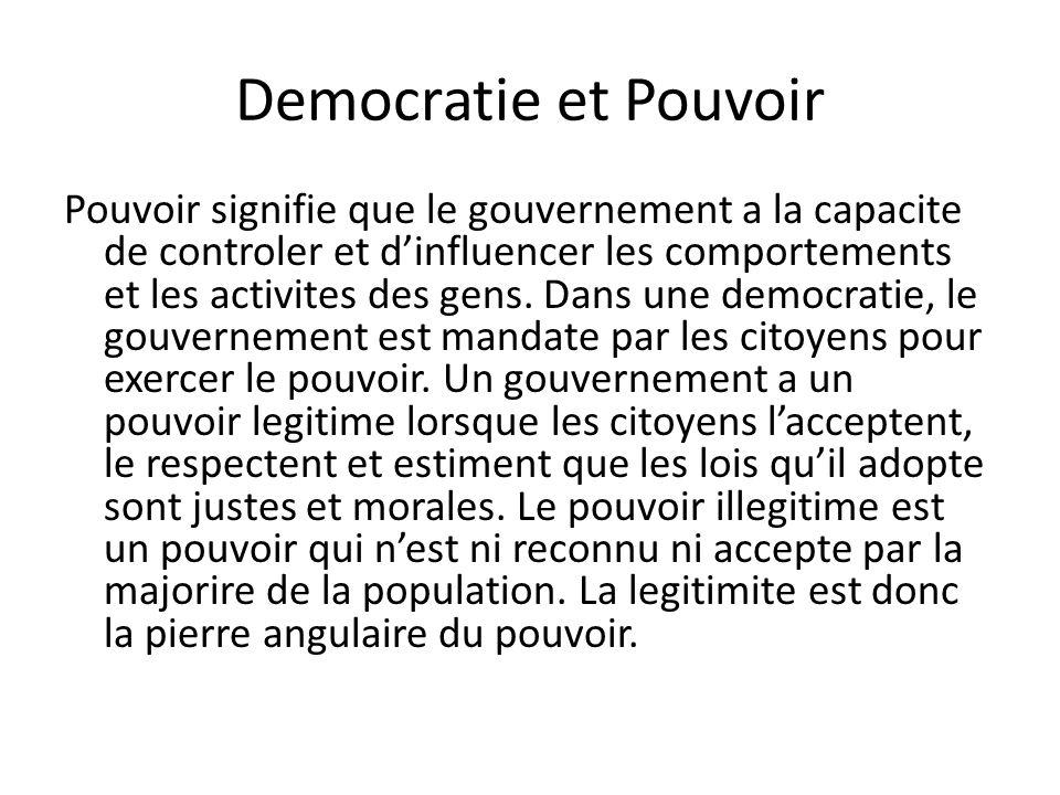 Democratie et Pouvoir
