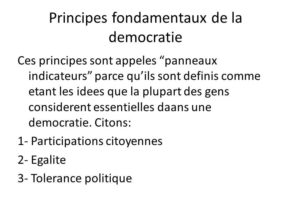 Principes fondamentaux de la democratie
