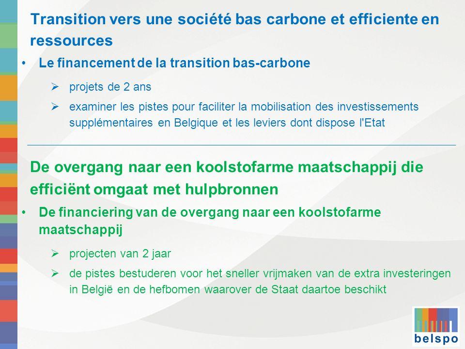 Transition vers une société bas carbone et efficiente en ressources
