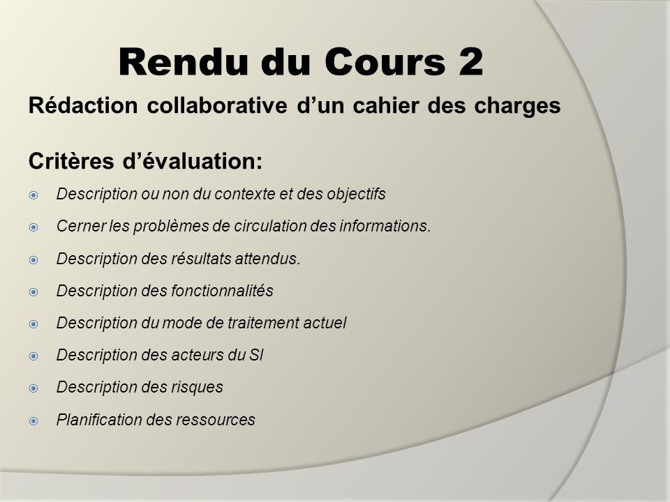 Rendu du Cours 2 Rédaction collaborative d'un cahier des charges