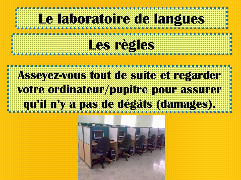 Le laboratoire de langues
