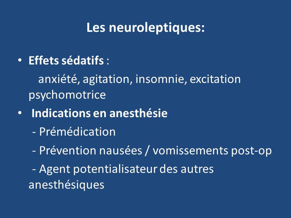 Les neuroleptiques: Effets sédatifs :