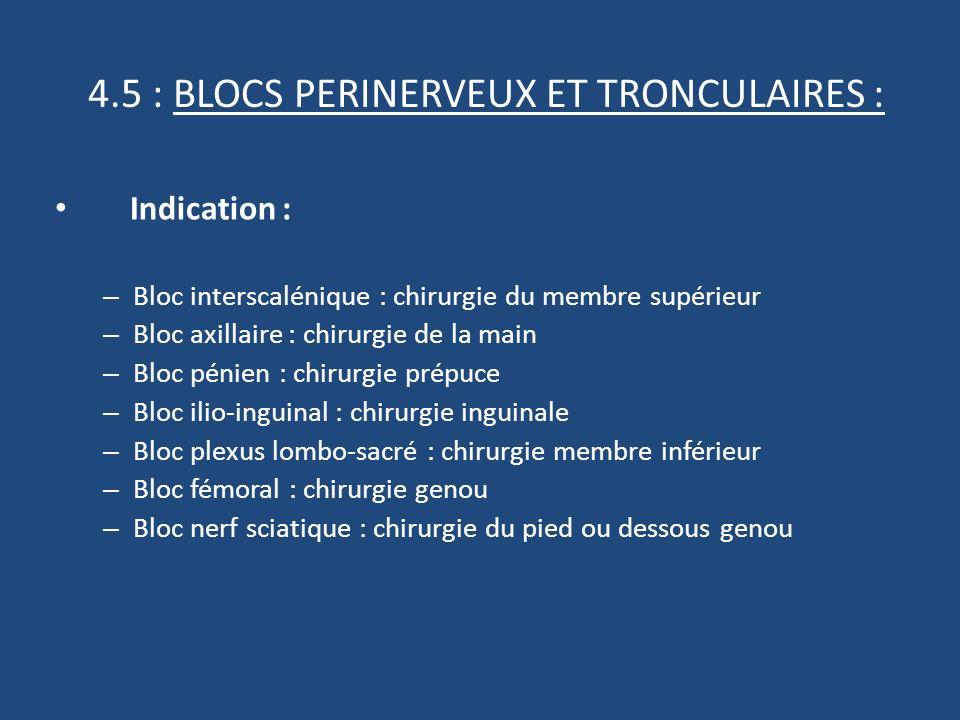 4.5 : BLOCS PERINERVEUX ET TRONCULAIRES :