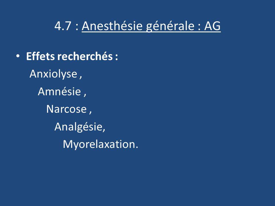 4.7 : Anesthésie générale : AG