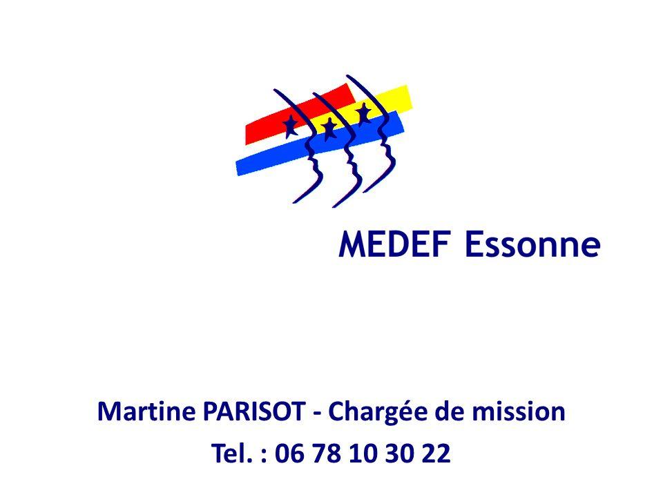 Martine PARISOT - Chargée de mission Tel. : 06 78 10 30 22
