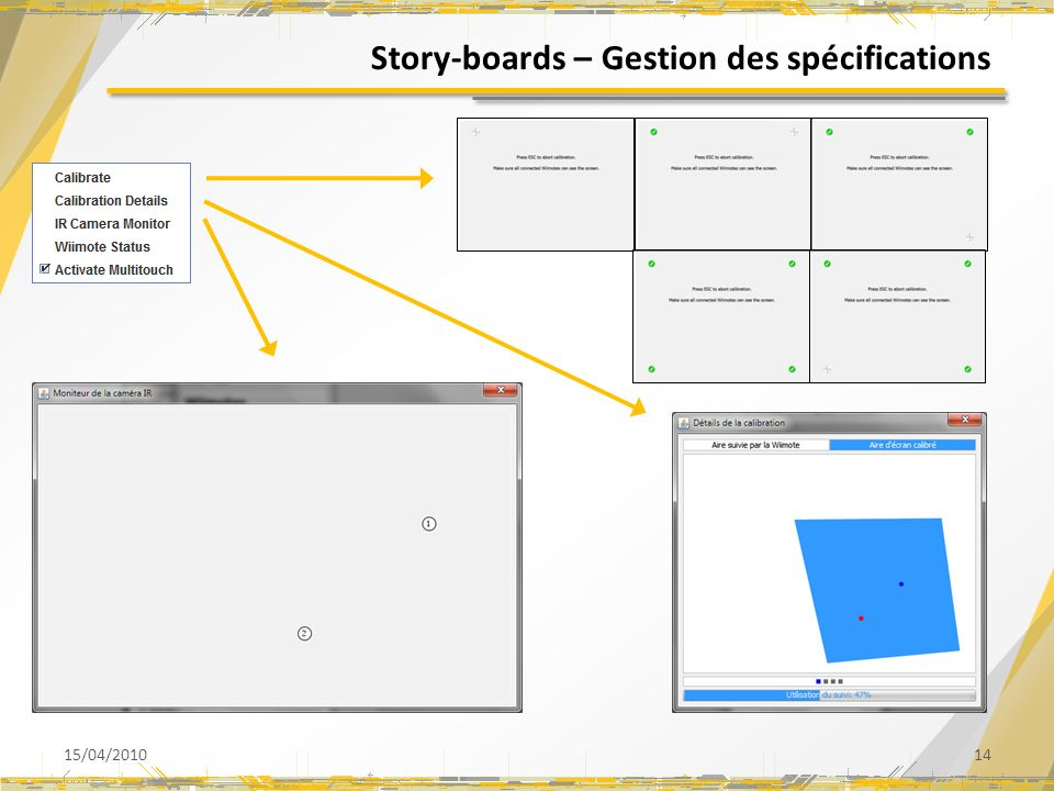 Story-boards – Gestion des spécifications