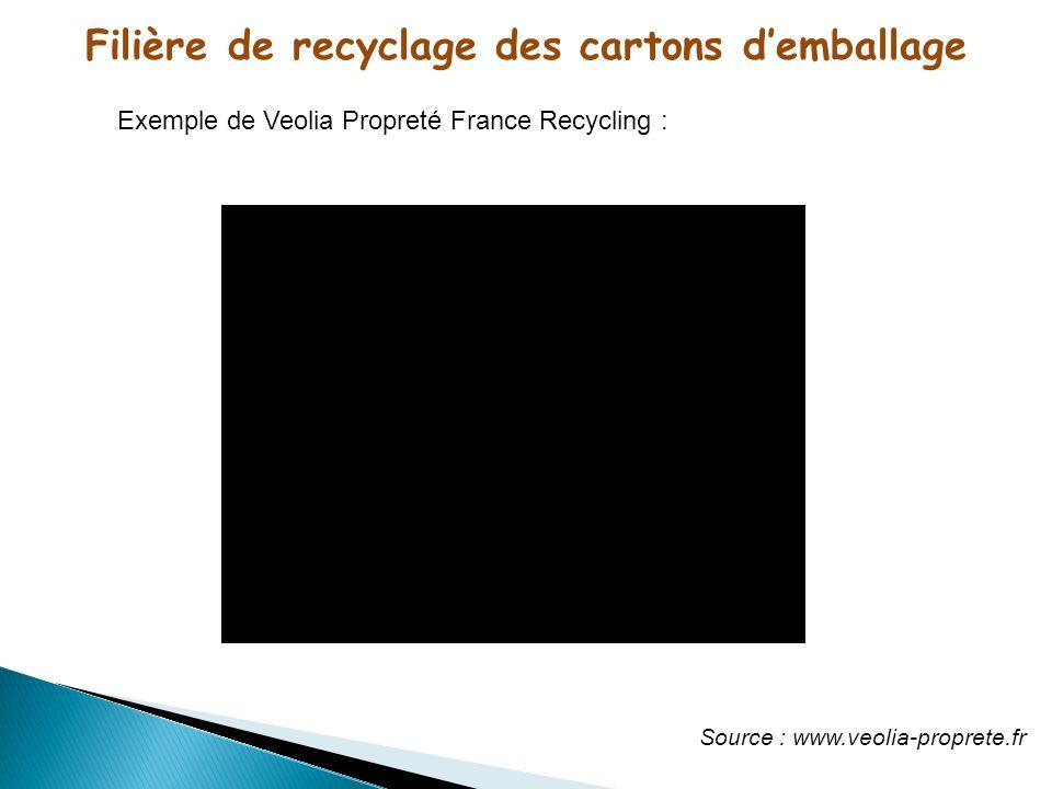 Filière de recyclage des cartons d'emballage