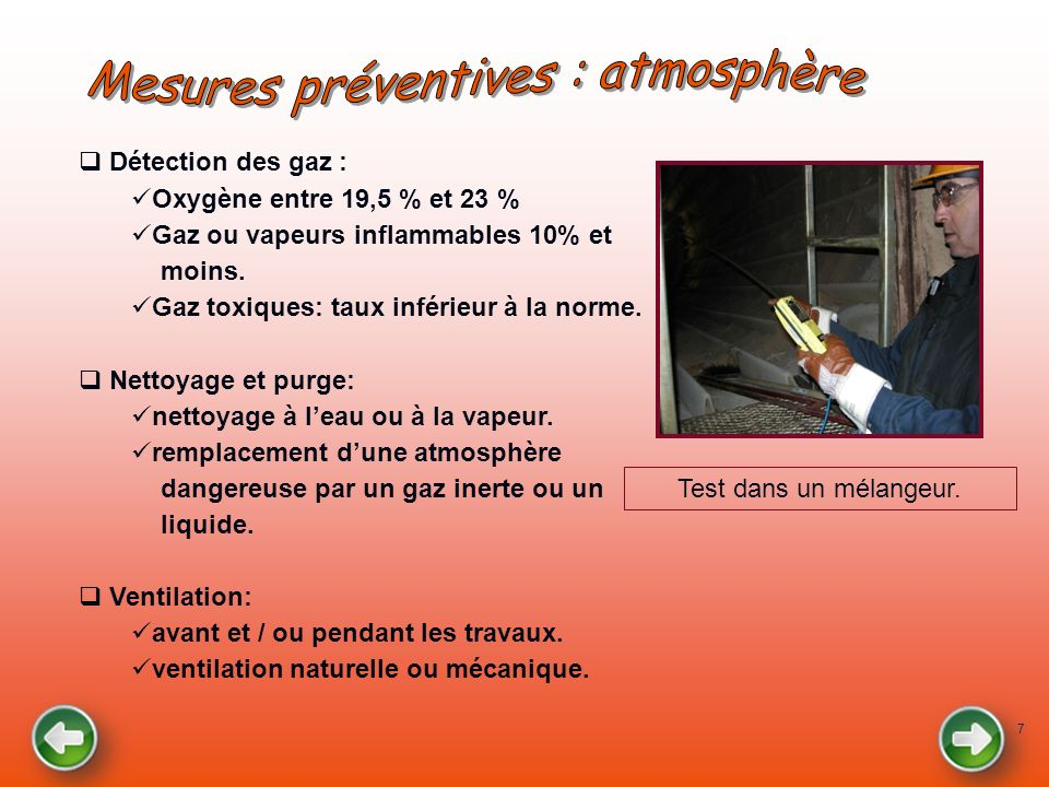 Mesures préventives : atmosphère