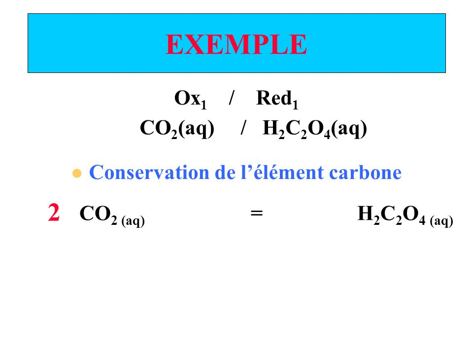 Conservation de l'élément carbone