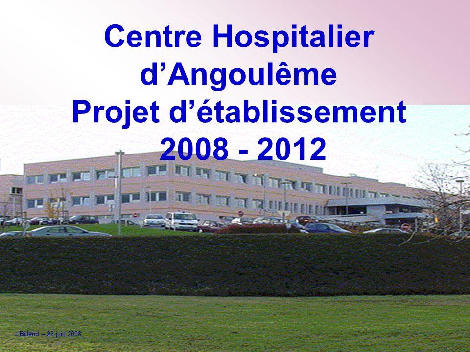 Centre Hospitalier d'Angoulême Projet d'établissement 2008 - 2012
