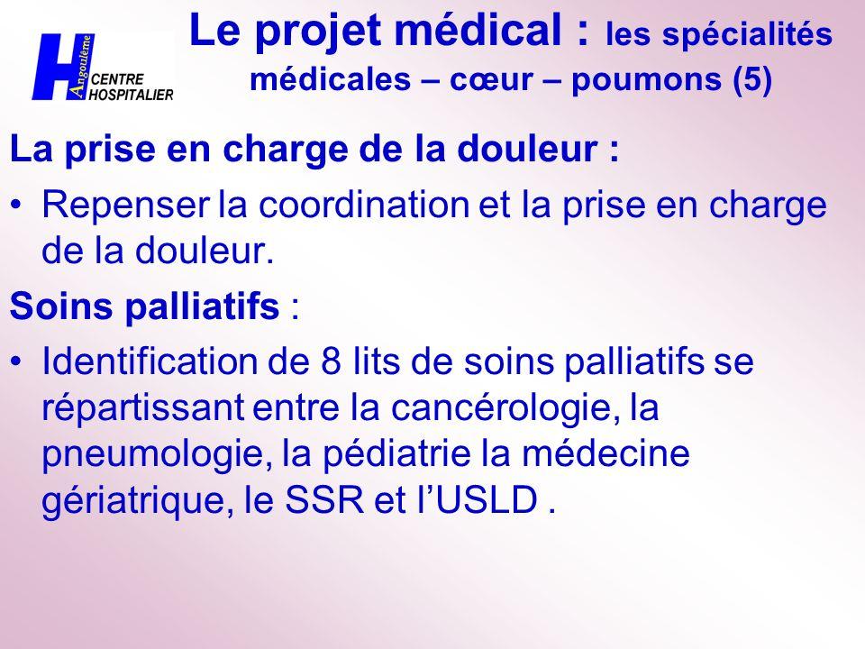 Le projet médical : les spécialités médicales – cœur – poumons (5)