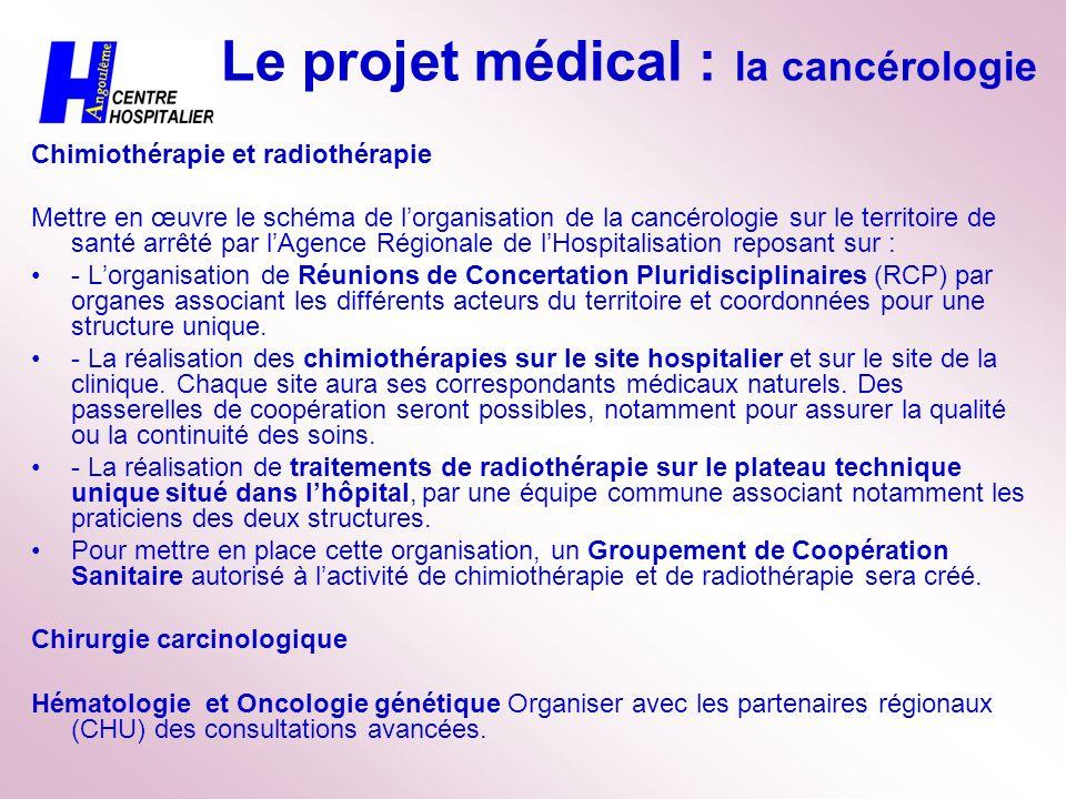 Le projet médical : la cancérologie