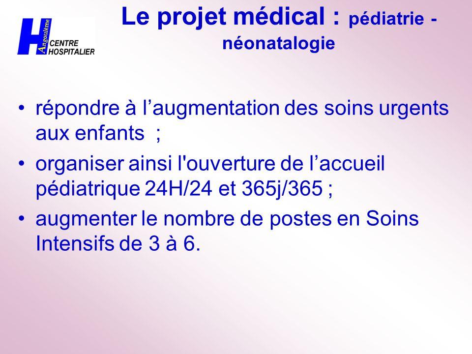 Le projet médical : pédiatrie - néonatalogie