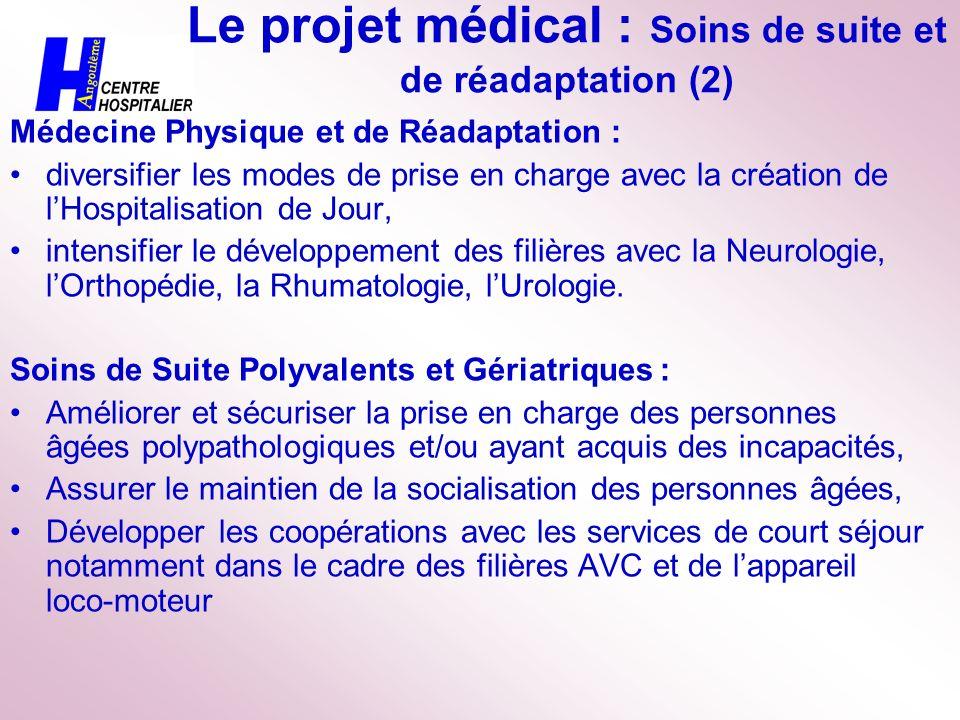 Le projet médical : Soins de suite et de réadaptation (2)