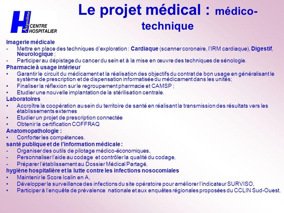 Le projet médical : médico-technique