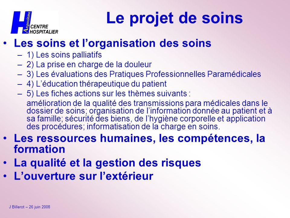 Le projet de soins Les soins et l'organisation des soins