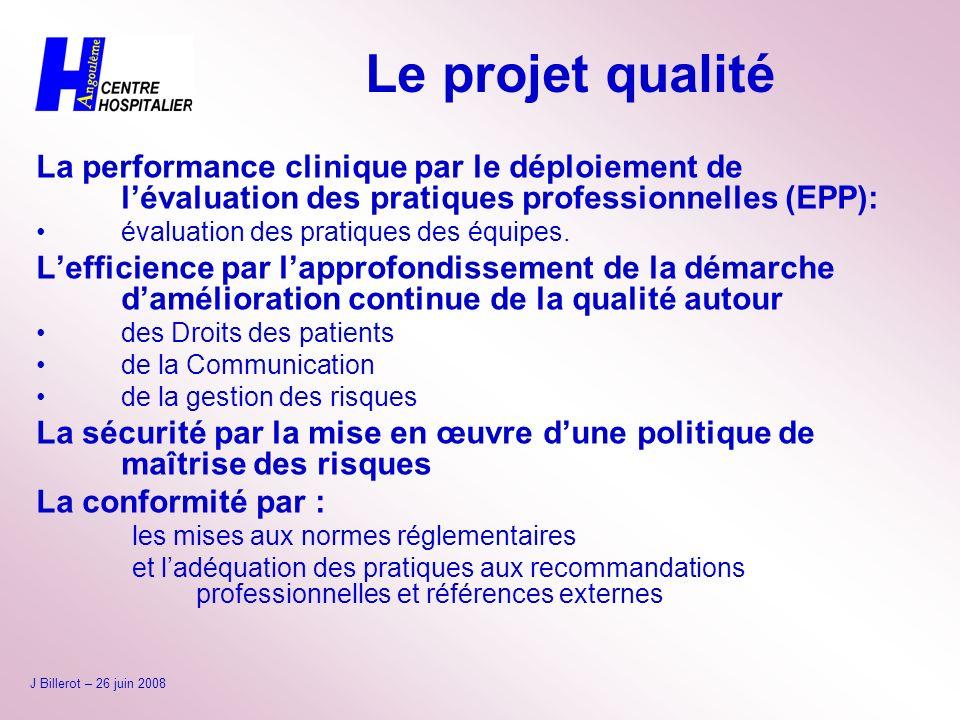 Le projet qualité La performance clinique par le déploiement de l'évaluation des pratiques professionnelles (EPP):