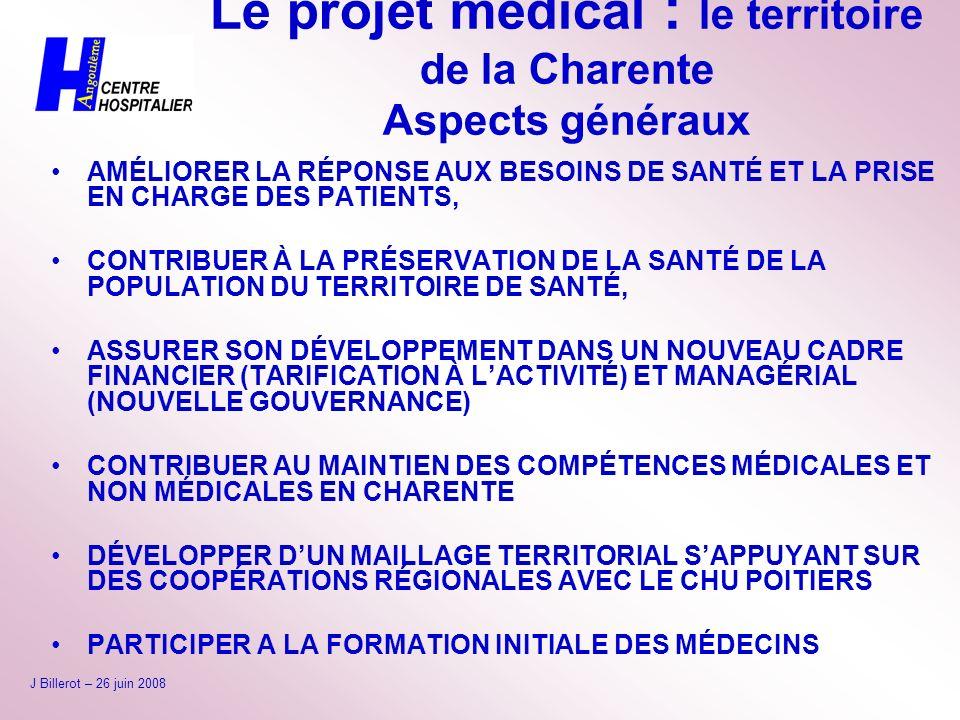 Le projet médical : le territoire de la Charente Aspects généraux
