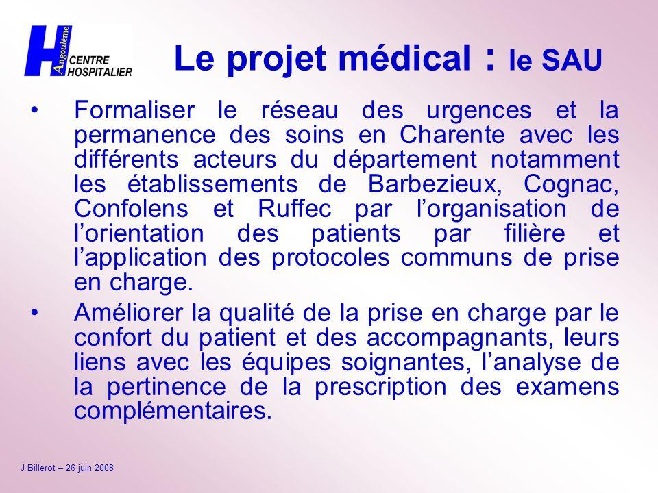 Le projet médical : le SAU