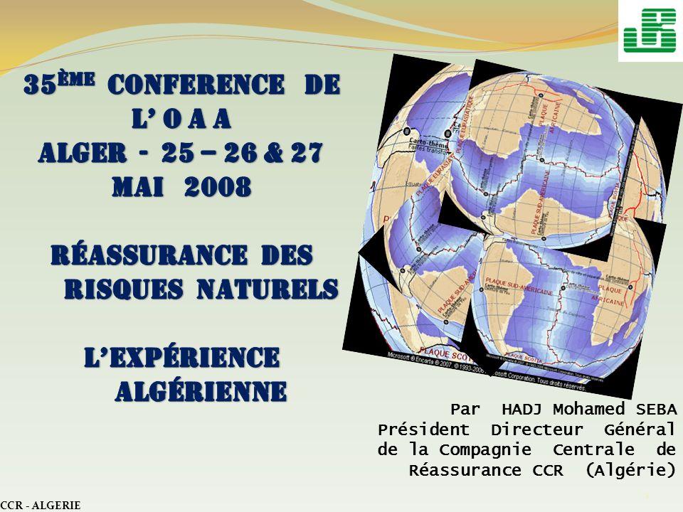 35ème CONFERENCE DE L' o a a Alger - 25 – 26 & 27 mai 2008