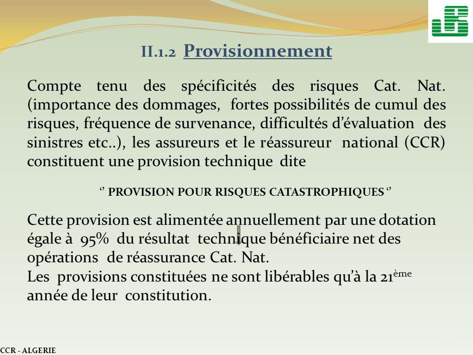 II.1.2 Provisionnement