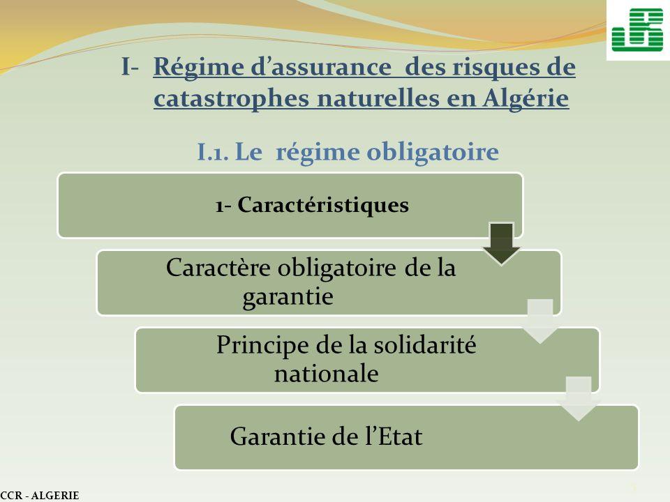 I.1. Le régime obligatoire