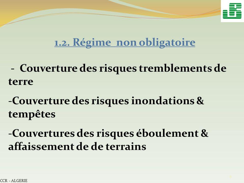1.2. Régime non obligatoire