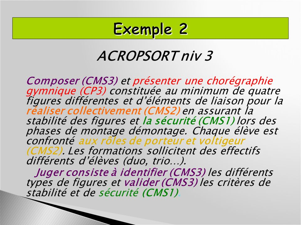 ACROPSORT niv 3