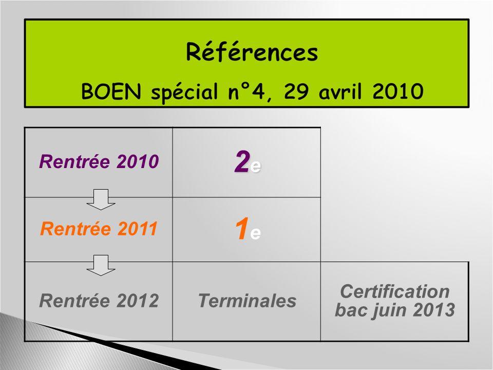 Certification bac juin 2013