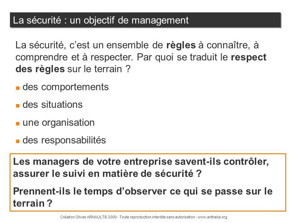 La sécurité : un objectif de management