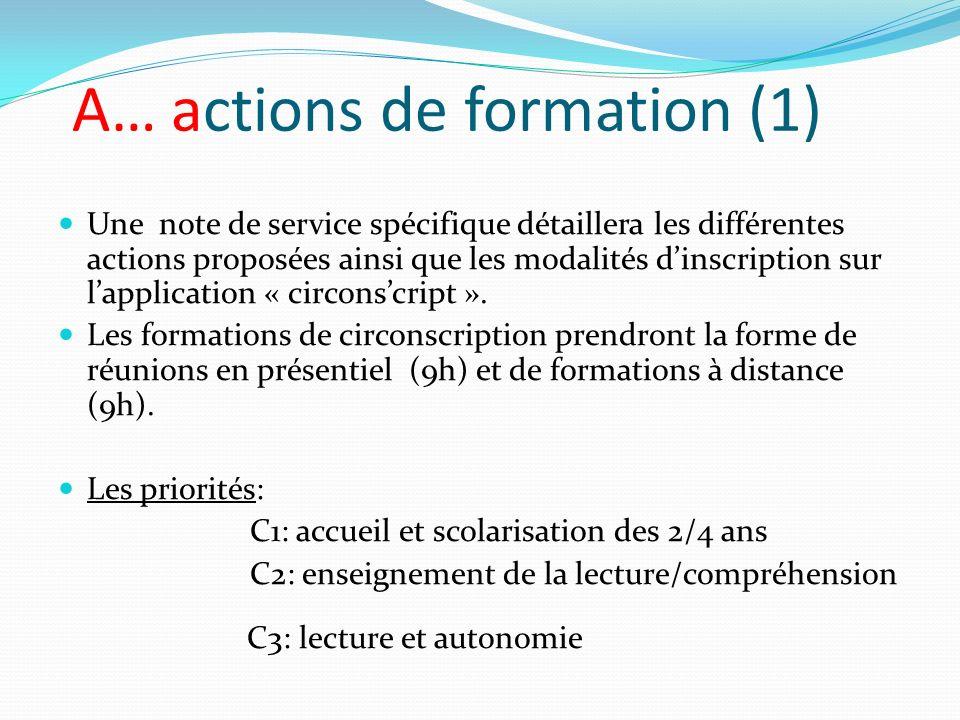 A… actions de formation (1)