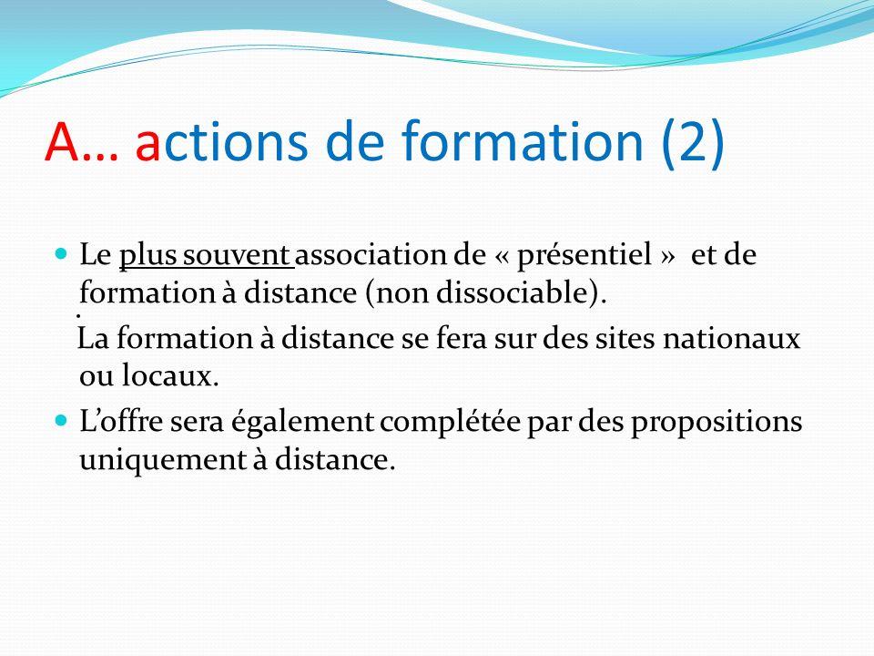 A… actions de formation (2)