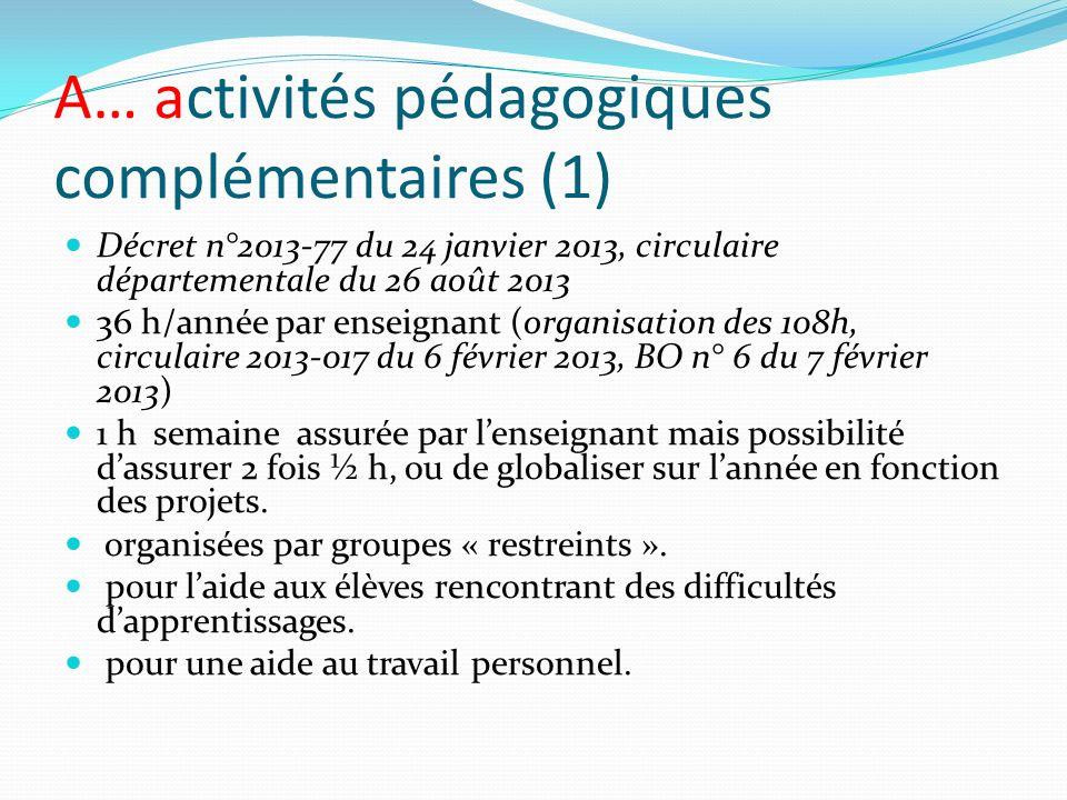 A… activités pédagogiques complémentaires (1)