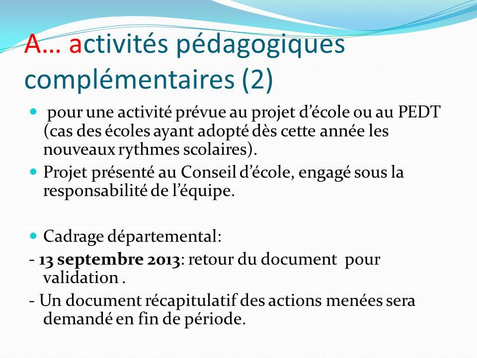 A… activités pédagogiques complémentaires (2)
