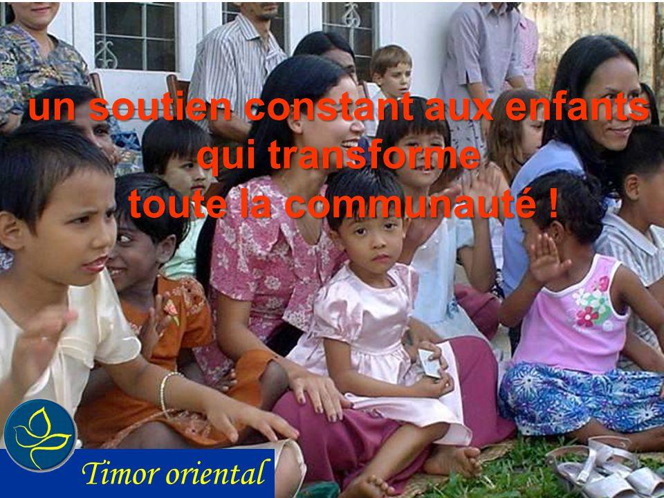 un soutien constant aux enfants