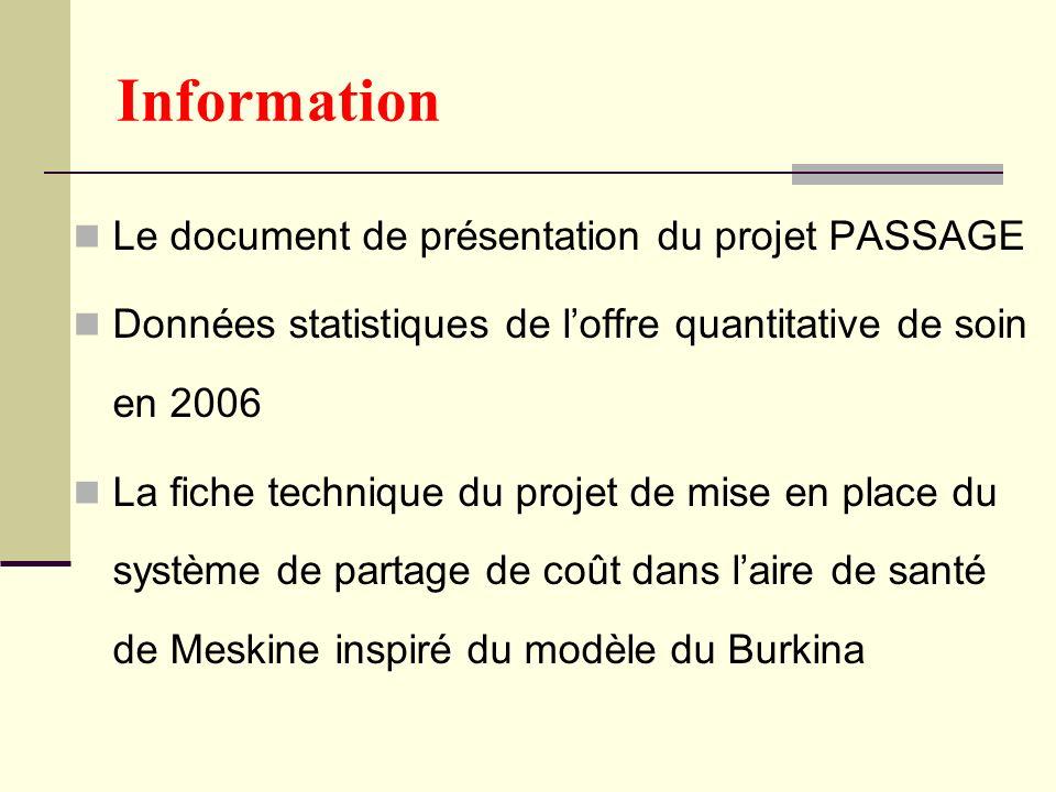 Information Le document de présentation du projet PASSAGE