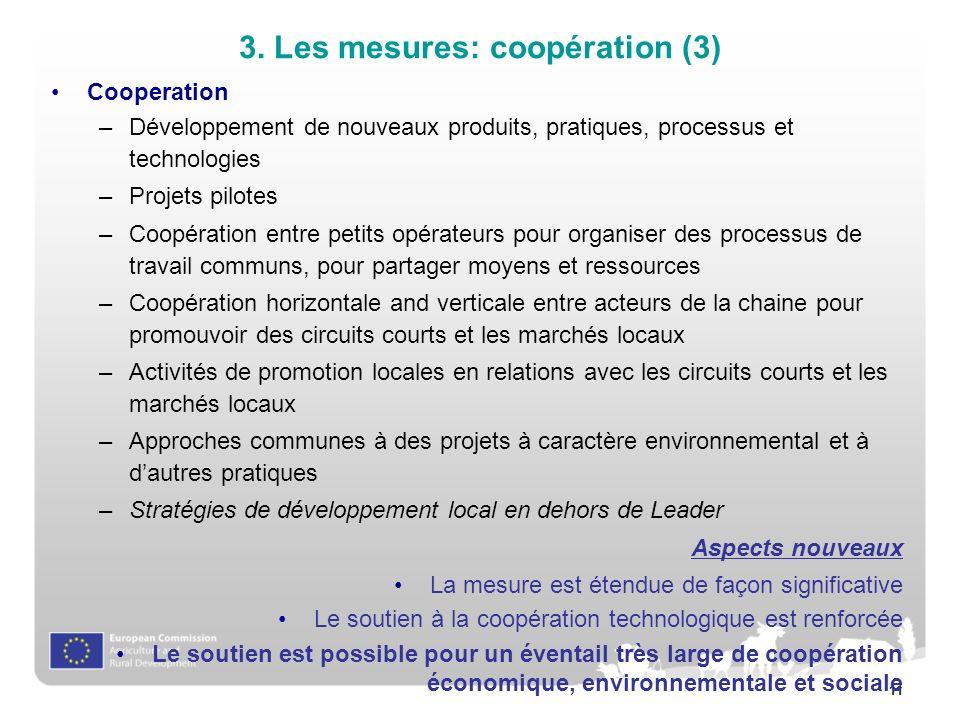 3. Les mesures: coopération (3)
