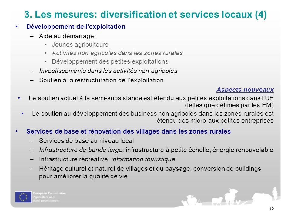 3. Les mesures: diversification et services locaux (4)