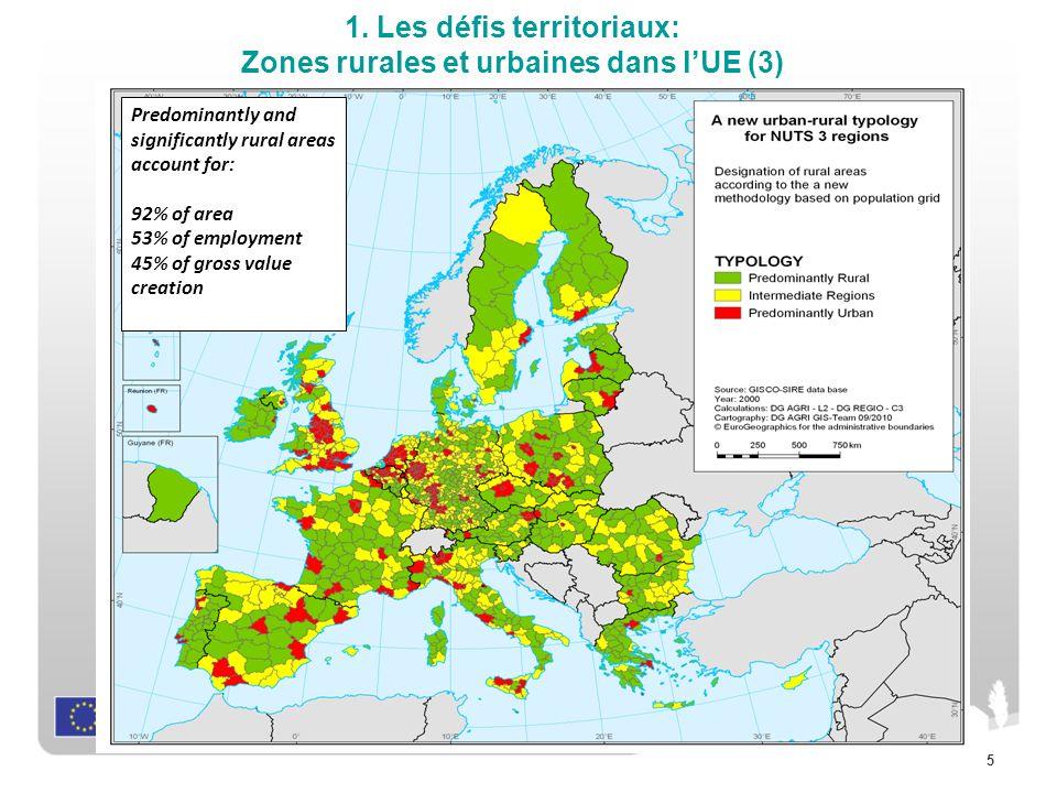 1. Les défis territoriaux: Zones rurales et urbaines dans l'UE (3)