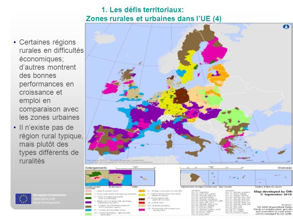 1. Les défis territoriaux: Zones rurales et urbaines dans l'UE (4)