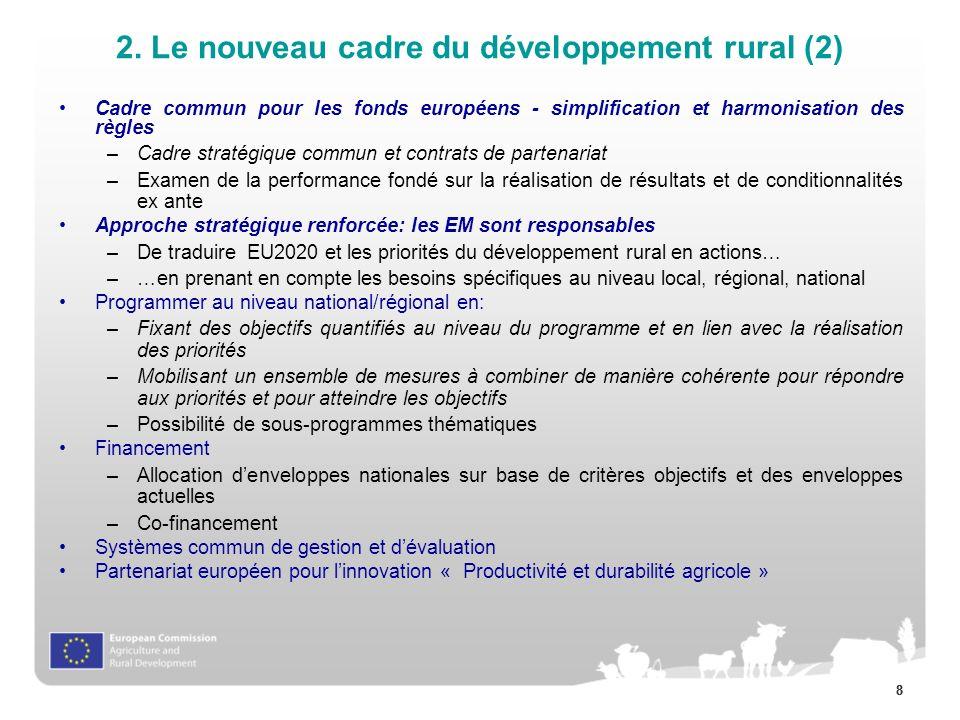 2. Le nouveau cadre du développement rural (2)