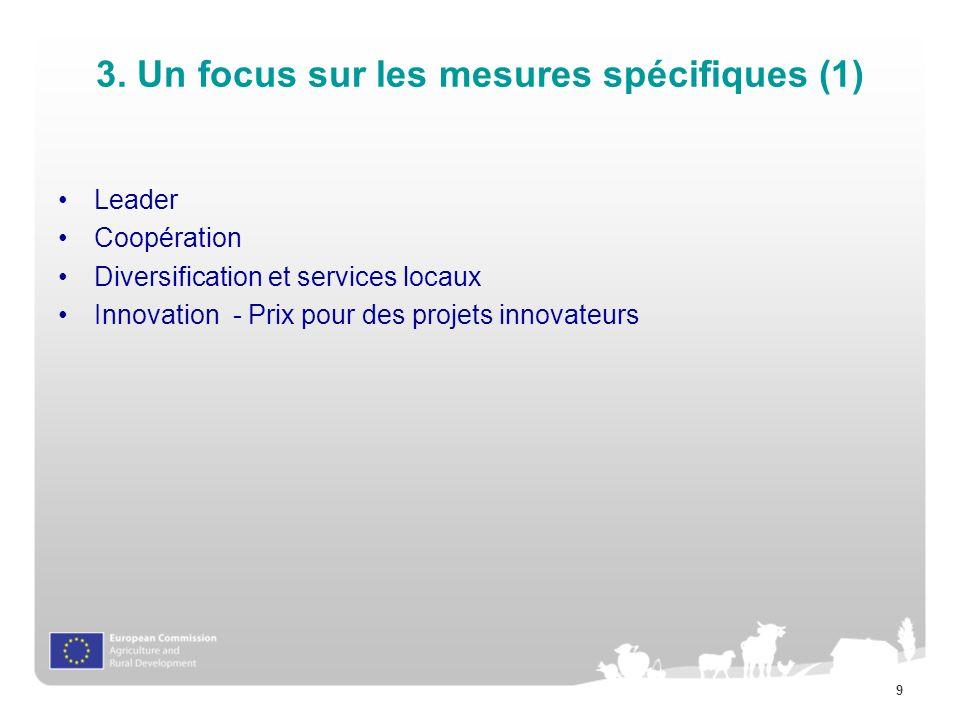 3. Un focus sur les mesures spécifiques (1)