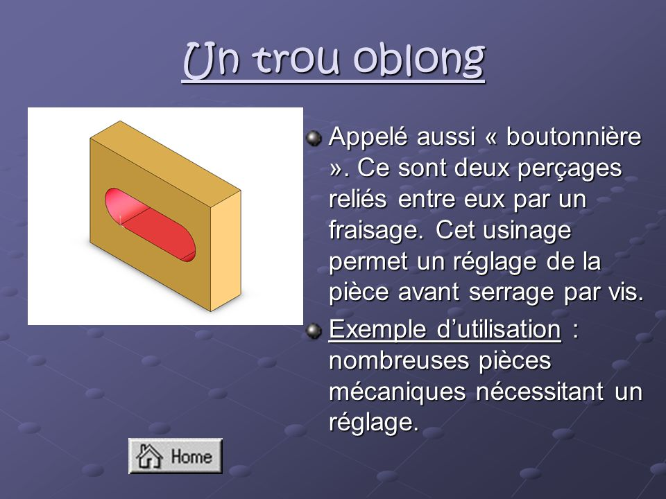 Un trou oblong