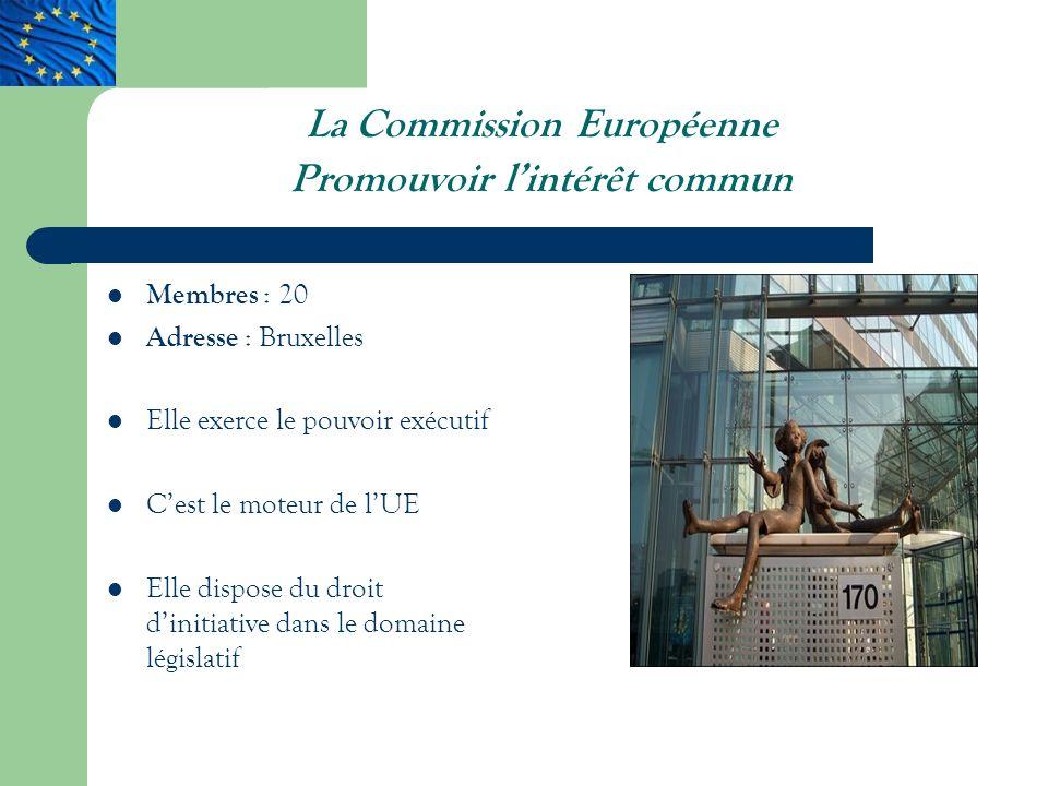 La Commission Européenne Promouvoir l'intérêt commun