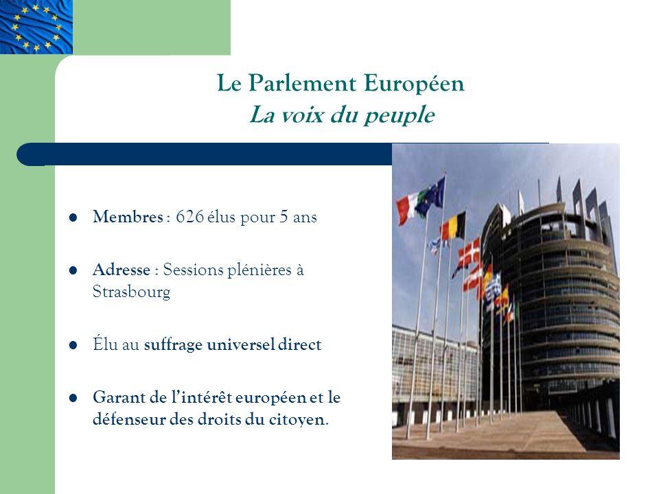 Le Parlement Européen La voix du peuple