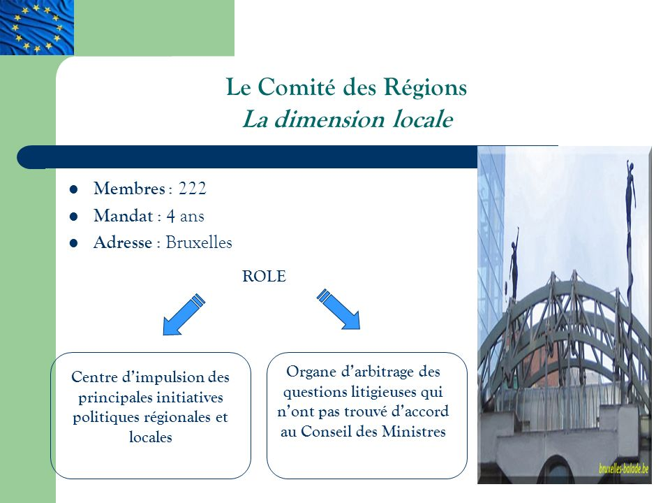 Le Comité des Régions La dimension locale