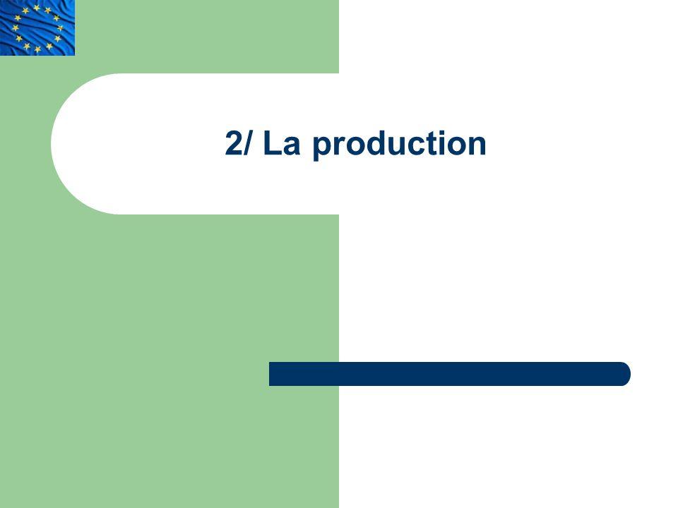 2/ La production