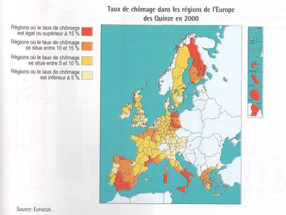 Le chômage reste donc important et diversifié selon les régions