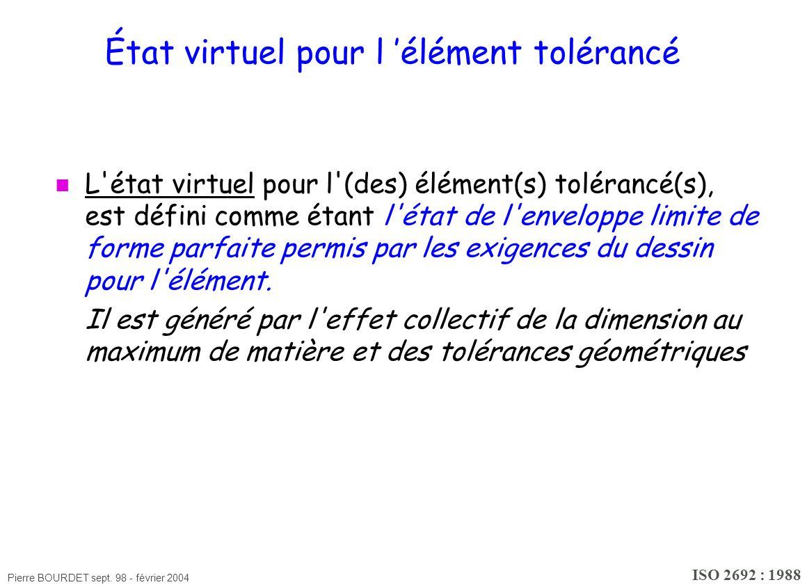 État virtuel pour l 'élément tolérancé